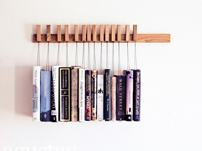 Desain Rak Buku Dinding