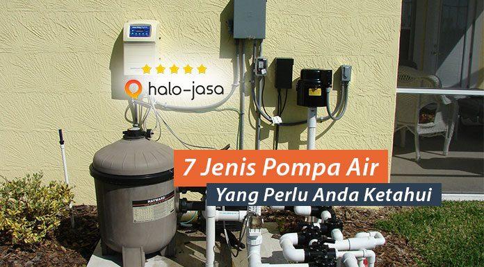 jenis pompa air yang perlu diketahui