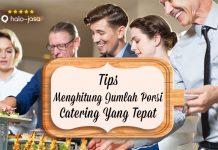 Halojasa Tips menghitung jumlah porsi catering