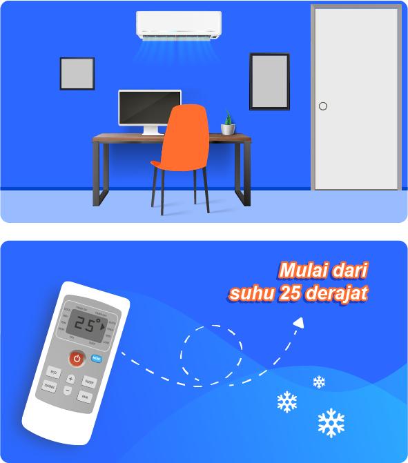 • Mematikan AC yang tak Digunakan Mematikan AC saat tak digunakan perlu kamu lakukan. Selain menghemat listrik, AC yang digunakan terus menerus dengan durasi tak wajar akan memperpendek usia parts sehingga AC cepat rusak. Jika kita hanya keluar ruangan sebentar untuk 20-30 menit, ada baiknya untuk tak mematikan AC jika nantinya akan berencana menghidupkan kembali. Karena ketika AC baru saja mati dan kemudian dinyalakan lagi, AC akan memakan tenaga listrik yang cukup besar untuk menghasilkan udara dingin kembali. Semua ini bergantung pada pemakaian kamu, namun sangat disarankan untuk menggunakan fitur timer yang ada pada remote AC. Jika AC sudah keburu rusak karena pemakaian tak wajar, kamu bisa pakai Jasa Bongkar Pasang AC Tangerang dari Halo Jasa atau sesuai domisili kamu untuk memastikan parts mana yang mungkin rusak dan harus diganti. Menggunakan perangkat elektronik dengan benar akan memperpanjang masa pakai nya. Ketika umur pemakaian AC panjang, selain menghemat tenaga, kamu juga akan menghemat pengeluaran untuk membeli AC baru atau melakukan servis karena pemakaian tak wajar. Pastikan kamu melakukan maintenance rutin dengan Jasa Cuci AC Tangerang dari Halo Jasa. Teknisi professional dan layanan after sales service akan membantumu menjaga AC agar tetap dingin maksimal. Yuk pastikan PSBB Jakarta dan kota-kota sekitarnya ini mulai 14 September nanti bisa menjadi ajang yang baik untuk menyetop dna mengurangi laju pertumbuhan pasien positif dari pandemi COVID-19 ini.